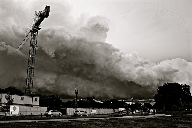"""""""Cloud from 15th and Constitution"""" by Kevin Wolf"""