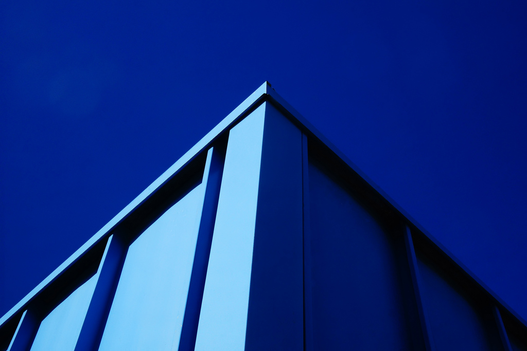 """blue corner, blue sky"" by Kevin Wolf"