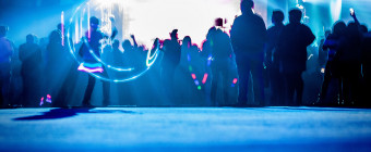 Ravers at a safe distance by Paul Sirajuddin