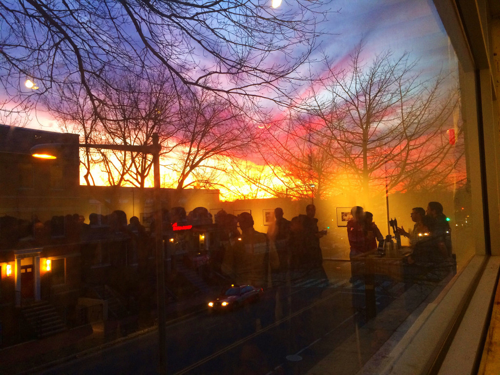 A pretty amazing sunset happening outside Capital Fringe. Photo by Loren Southard