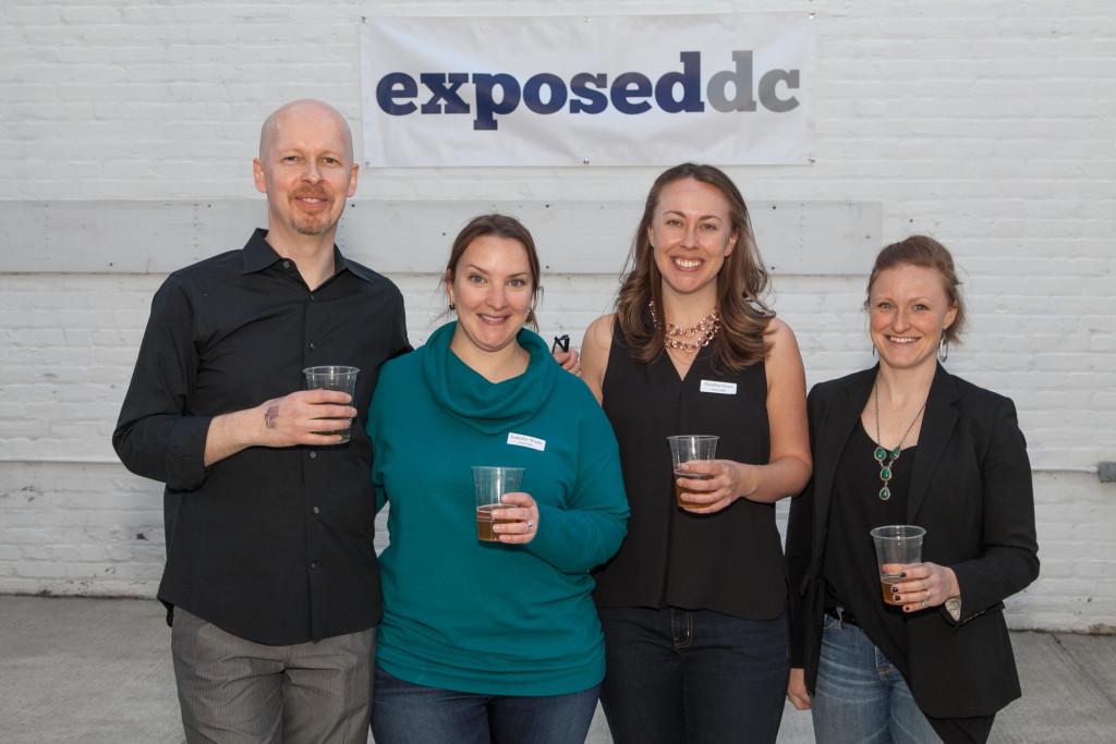 Most of the Exposed DC team: James Calder, Jennifer Wade, Heather Goss, and Megan Fogarty. Photo by Jim Darling