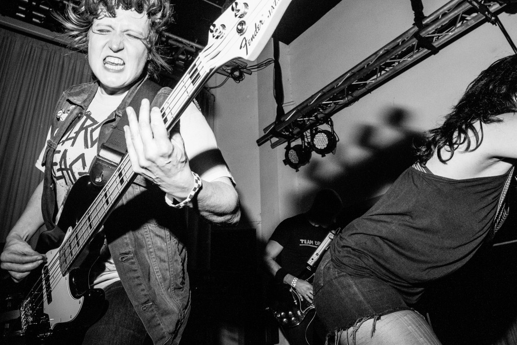 Pictured is Sue Werner of the Baltimore band War on Women by Farrah Skeiky