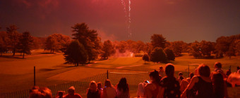 Watching the fireworks in Arlington, VA by Kevin Wolf