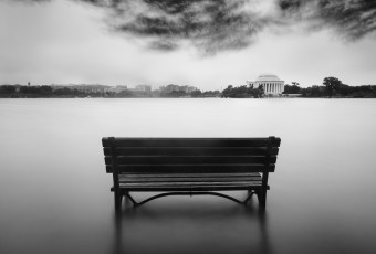 Tidal Basin after Nor'easter storms by Richard Brundage