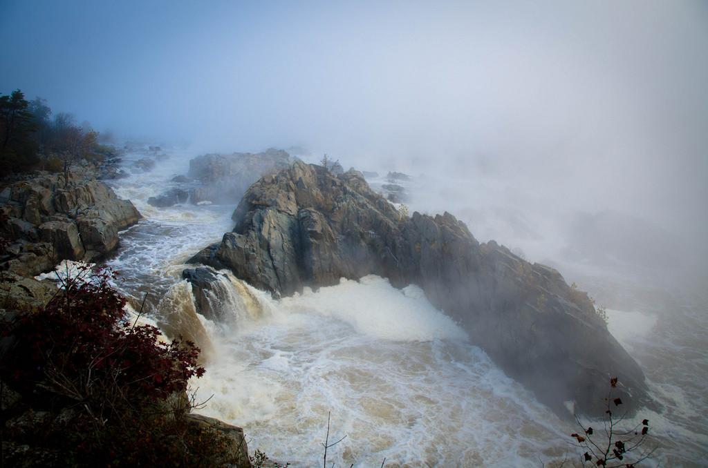 Great Falls in the Fog by John Marciano