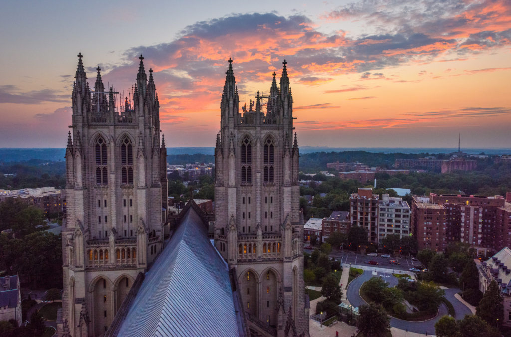 Sunset Over National Cathedral by Geoff Livingston