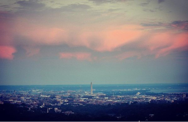Saturday's sunset from the National Cathedral by Jim Havard