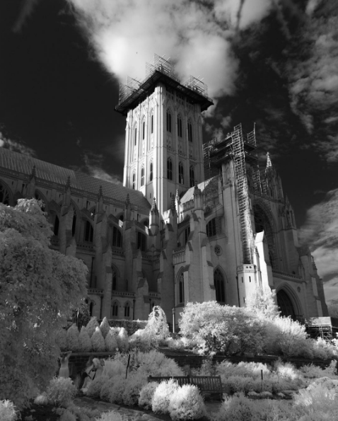Washington National Cathedral in infrared by Mark Alan Andre
