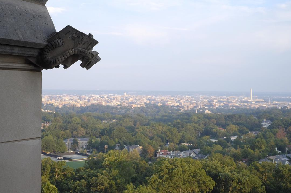 A CCTV gargoyle pointed at the Russian Embassy by Jocelyn Crawford