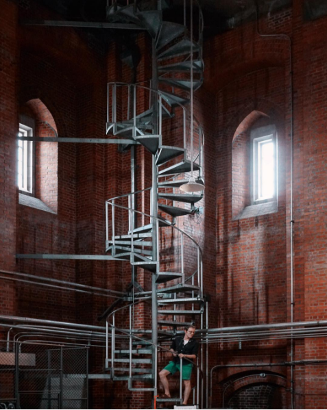 Staircase to the belltower by Albert Ting